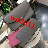 chine chaude achat en gros de-nouveaux sacs chauds de vente de concepteur de femmes de porcelaine d'épaule avec la boîte Modèle 61276 3pcs dans l'ensemble
