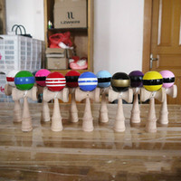 Wholesale attractive paintings for sale - Group buy Attractive CM Kendama Funny Japanese Traditional Wood Toy Kendamas Ball Colorful PU Paint Wooden Professional Adult Toys