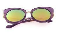 niños gafas de sol púrpura al por mayor-Gafas semimetálicas para niños. Moda marea. Gafas de sol de color púrpura para niños.