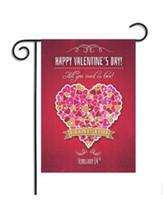 feliz dia valentim venda por atacado-Feliz dia dos namorados bandeira doce coração decorativo Feliz dia dos namorados jardim bandeira casa decoração de casamento