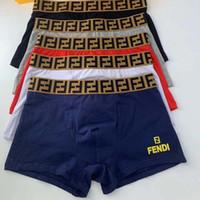 mann boxer zu hause großhandel-U Konvexen Männer Unterhose Baumwolle Weiche Atmungsaktive Männliche Boxer Modemarke Brief Gedruckt Männer Unterwäsche Homewear