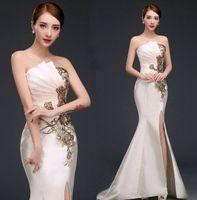 Wholesale mermaid tail dress split resale online - 2017 hot Fashion figure flattering Fish tail Split Mermaid Off the Shoulder Bridesmaid Formal