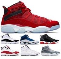 kırmızı konfeti toptan satış-6 6 s Altı Yüzükler Basketbol Ayakkabıları Sneakers Jumpman Concord Bred Siyah Buz Gym Kırmızı Konfeti Uzay Reçeli Erkek Adam 2019 Klasik Sepetleri Ayakkabı