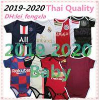 camiseta de fútbol bebé al por mayor-19 Kits de 20 Hazard Real Madrid bebé del fútbol jerseys Messi ICAROI Salah Estados ajax México niños de Jersey del fútbol del mono 2019 2020 Psg bebé