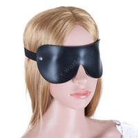 sex hilft spielzeug großhandel-Neues schwarzes PU-Leder, bedeckt mit sexy Augen, Maske, necken, Sex-Aid-Party, Spiel für Sexspielzeug für Erwachsene, verlässliches Spielzeug für Paare