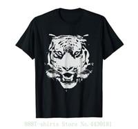 ingrosso stampa la faccia della tigre-Tee da donna Tiger Face Painted Big Kitty Cat da African Letter Stampa Harajuku Punk Tshirt