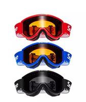 black ski mask toptan satış-Yeni Sup Kayak Gözlüğü Gözlük Siyah Kırmızı Maske kayak Kış Sporları için Ücretsiz Kargo