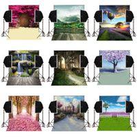 Wholesale camera backdrops for sale - 5x7FT garden blossoms natural scenic vinyl photography backdrops for wedding photos camera fotografica digital sudio prop photo background