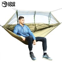 Wholesale army bedding for sale - Group buy 1 Person Outdoor Mosquito Net Parachute Hammock Camping Hanging Sleeping Bed Swing Portable Double Chair Hamac Army Green CJ191116
