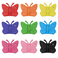 Wholesale yellow ipad mini case resale online - Soft EVA Foam Case For iPad mini New iPad Butterfly Stand Portable Tablet Cover For iPad Samsung Tab