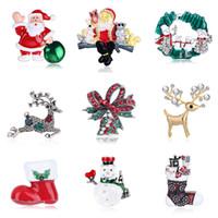 yeni yıl broşları toptan satış-8Seasons Noel Serisi Emaye Broş Noel Baba Yılbaşı Moda Takı Hediye Giyim Pin Badge Elbise Aksesuarları, 1 bilgisayar