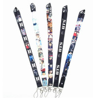 Wholesale lanyard id phone holder for sale - Group buy Neck Lanyard Bangtan Boys Neck Strap Lanyards for keys ID Card Gym Mobile Phone Strap USB Badge Holder Rope lanyard