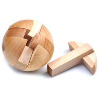 magic sphäre puzzle großhandel-15 STÜCKE Holz Puzzle Magic Ball Denksportaufgaben Spielzeug Intelligenz Spiel Sphere Puzzles Für Erwachsene / Kinder AIJILE