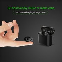 ingrosso earbud earplug-Nuovo mini auricolare Bluetooth senza fili in Earbud dell'orecchio 700mAh portatile Scatola di immagazzinaggio di carico Earplug Auricolare unilaterale auricolare