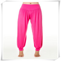 Wholesale dancing black yoga dance harem pant for sale - Yoga Pants Modal Cotton Lady Soft Yoga Sports Dance Harem Pants Belly Dance Yaga Wide Pants Trousers Exercise Wear