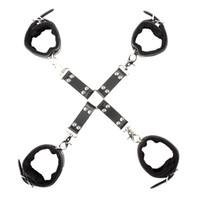 metallhand bondage großhandel-Neueste Strong Metal Cross Bondage Kit Handschellen und Fußfesseln Bindung BDSM Sex Erotikspiele Sexspielzeug BDSM Sexspielzeug für Paare