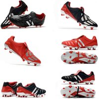 Wholesale soccer shoes limited edition for sale - Group buy New coming th Classics Predator Mania OG FG Red Silver White LIMITED EDITION Beckham ZZ Men soccer shoes cleats football boots