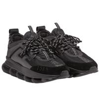 zapatos de telas al por mayor-Reacción en cadena 6cm Medusa Shoes RP Link-Relewed Sole zapatillas de deporte Entrenador antideslizante Casual para hombres Mujeres Telas Zapatos casuales con bolsa para el polvo