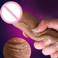 seks için büyük penis toptan satış-Yeni Cilt duygu Ile Gerçekçi Penis Süper Büyük Büyük Yapay Penis Vantuz Bayanlara Seks Oyuncakları Seks Ürünleri Kadın Mastürbasyon Horoz