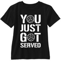 plaj voleybolu toptan satış-You Just Served Kısa Kollu T Gömlek Voleybol Oyuncu Plaj Ücretsiz Nakliye! T Gömlek Erkekler adamın Kostümü Kısa Kollu Moda Özel XXXL