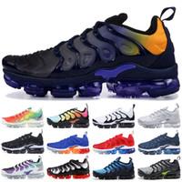 Wholesale photos fabric resale online - Persian Violet TN Plus Running Shoes Men Women Designer Shoes Photo Blue Bumblebee Sunset White Black Sport Sneakers