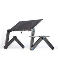 Wholesale laptop stands beds resale online - Aluminium Alloy Laptop Desk Folding Portable Laptop Table Notebook Desk Table Stand Bed Sofa Tray Book Holder