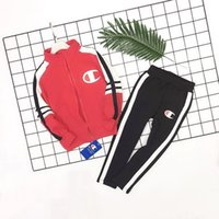 ingrosso abiti invernali per bambini coreani-celebutante Two Piece Outfits Set di abbigliamento per bambini Winter Girls 2019 Spring In Children Pure Cotton Coreano Motion Twinset Clothes 0818