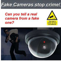 Dome Dummy Security CCTV Cameras flash Blinking red LED Fake camera Security Simulated video Surveillance Deter Robbery !!