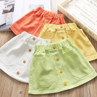 New arrived 2020 Candy Color Girls Skirts Fashion Kids Skirt Girls A-Line Skirts Kids Pencil Skirts kids designer clothes girls B116