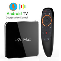 Wholesale Android GB GB Amlogic S905X2 LPDDR4 Smart TV Box Dual Wifi H p K USB3 H96 MAX X2 Google Voice Control
