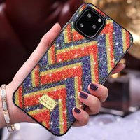 Wholesale hybrid diamond cases for sale – best Bling Glitter Hybrid Diamond Bumper Soft TPU Case For iPhone Pro XR XS Max X Plus Samsung S10 Note Huawei P30 Mate