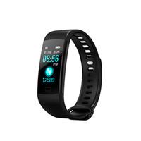 горячий будильник оптовых-Y5 Pulsometer Fitness Smart Bracelet Activity Tracker Pedometer Smart Wristband Vibrating Alarm Clock For Xiaomi Hot Sale