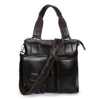 Wholesale crocodile oil resale online - 2019 New Vintage Oil Waxing Cowhide Men s Briefcase Casual Genuine Leather Handbag Male Shoulder Messenger bags