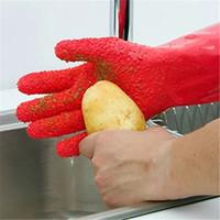 ingrosso guanti di pulizia di patate-Creativo Pelati Pulizia Guanti Immediata Verdure Peeling i guanti di patata Tater Peeler guanti da cucina Accessori 28 * 10,5 centimetri