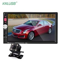 Wholesale viewing mp4 resale online - 7080B Car Radio Din In Dash Inch Touch Screen Auto audio Player MP4 MP5 bluetooth USB SD MP3 Rear View Camera autoradio din