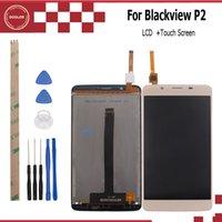 fhd ekranı toptan satış-Blackcolor P2 Için ocolor P2 Için ocolor LCD + Dokunmatik Ekran 5.5 inç Meclisi Onarım Bölümü Blackview Için 1920X1080 FHD + Aracı + Yapıştırıcı