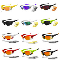 gafas de sol para prescripción al por mayor-Top Quality Biking Sunglasses Colorfull Goggle Oversized Sunglasses Sport Wrap Round Stylish Motorcycle Sun Eyewear Prescription with case