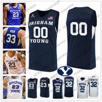 Custom BYU Cougars Basketball 32 Matt Haarms 4 Alex Barcello 5 Jake Toolson 23 Yoeli Childs 30 TJ Haws MEN YOUTH KID Jersey