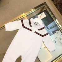 Wholesale newborn rompers for girls resale online - celebutante Luxury Designer Autumn Style Baby Boy Girl Rompers Long Sleeve Infant Jumpsuit Casual Outfit Newborn Baby Clothes For