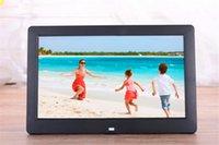 pantalla de visualización de fotos al por mayor-8 pulgadas HD Pantalla LCD Escritorio Marco de fotos digital Calendario Marco de visualización de imágenes digitales con soporte de calendario Tf unidades de memoria flash SD