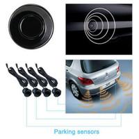 Wholesale car indicators resale online - 4 Sensors Buzzer Alert Indicator Kit Probe Radar Car Backup Reverse Sound System Parking Sensor mm V