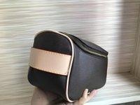 berühmtes zeug großhandel-3 Arten von Farben einzigen Reißverschluss rechteckige Handtasche Frauen reisen Verfassungsbeutel neuen Designer-Qualitätsmann Tasche berühmte Marke Kosmetiktasche waschen