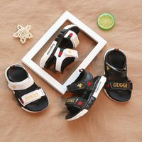 Wholesale baby boy beach sandals resale online - New Fashion Comfortable Baby Sandals Toddler Summer Beach Sandal Children Sneakers Soft Breathable Baby Boys Girls Kid Shoes