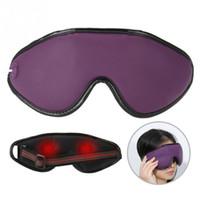 olhos de lavanda venda por atacado-Terapia magnética Aquecimento Máscara de Olho Massagem Eyemask Fibra De Carbono De Lavanda Compressa Quente Olho para Aliviar o Círculo Escuro