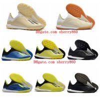 zapatos de fútbol superior al por mayor-2019 zapatos de fútbol para hombre de primera calidad X Tango 18 + EN IC TF TURF Tacos de fútbol de interior X 18 botas de fútbol scarpe da calcio