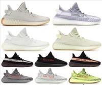 Wholesale Cheap O shoes Men designer shoes sneakers Women Bred Semi Frozen Sesame Kanye West Running Shoes women Cream white Zebra Sneakers