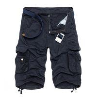 calças militares soltas venda por atacado-Camo Militar Bermuda 2017 Verão Camuflagem Carga Shorts Homens Algodão Solto Calças Táticas Curtas No Cinto C19040101
