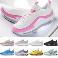 Großhandel NIke Air Max TN Jugend Kinder 97 Schuhe Og Triple Weiß Laufschuhe Jungen Mädchen Metallic Gold Silver Bullet Pink Mens Trainer Sport