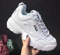 Wholesale ii rubber shoes resale online - Disruptors II Women Men Running Shoes Triple White Black Grey Pink Special Section Sports Sneaker Increased Fashion Casual Shoe