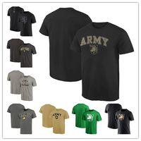 ingrosso maglietta manica corta dell'esercito-Maglietta tinta unita NEW 2017's America Match T-Shirt Army Black Knights Maglietta Fashion Summer Girocollo mens